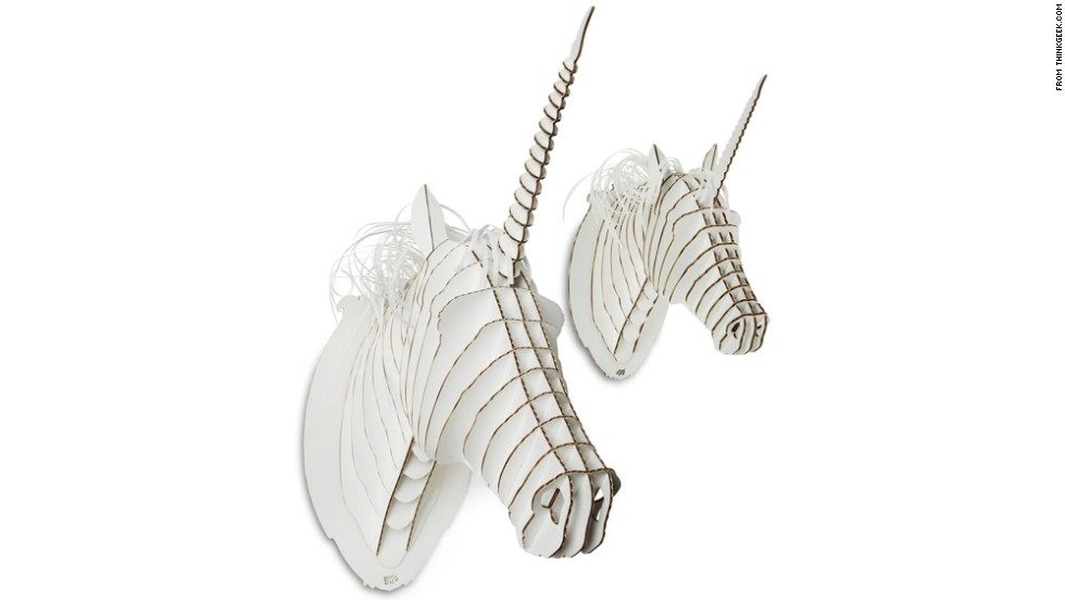 """Teenagers want the independence of adults, but they haven't given up on all the whimsy of childhood. Gifts that give a nod to their imagination, like these cardboard unicorn trophy heads from <a href=""""http://www.thinkgeek.com/"""" target=""""_blank"""">ThinkGeek</a>, are a great, affordable example."""