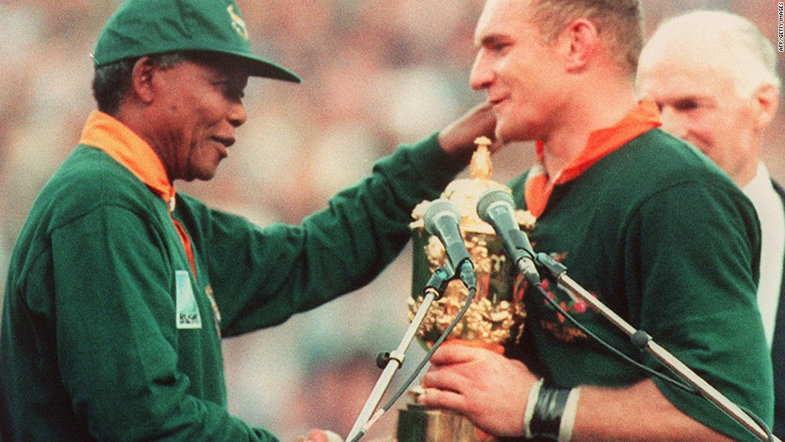 Habana was 12 when South Africa won the World Cup on home soil. Nelson Mandela, the country's president, presented the trophy to captain Francois Pienaar.