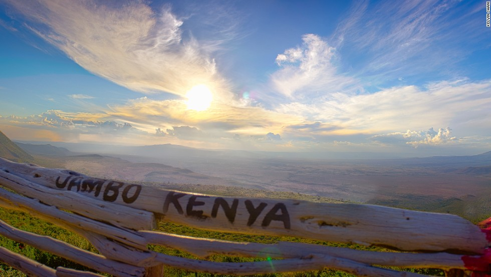 "A photography competition is celebrating Kenya's 50th year of independence from British rule.<br />Kelvin Shani said of his image capturing a sunset at the Rift Valley: ""It was photographed at the viewpoint on the way to Mai Mahiu. I see it as a very welcoming picture showcasing the raw beauty of Kenya with its vast landscapes."""