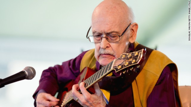Jim Hall performs during the Newport Jazz Festival 2013 at Fort Adams State Park on August 4, 2013.