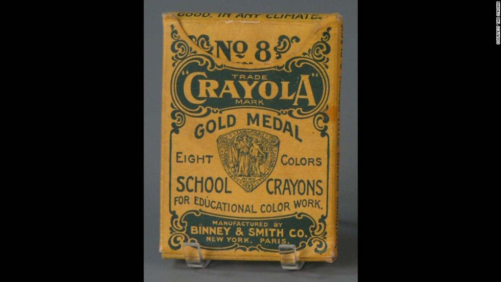 No. 8 Crayola School Crayons by The Binney & Smith Company (Crayola) circa 1905. Edwin Binney and C. Harold Smith started out producing pencils and chalk for classrooms. It wasn't until 1903 when they introduced the first box of eight Crayola crayons for 5 cents.