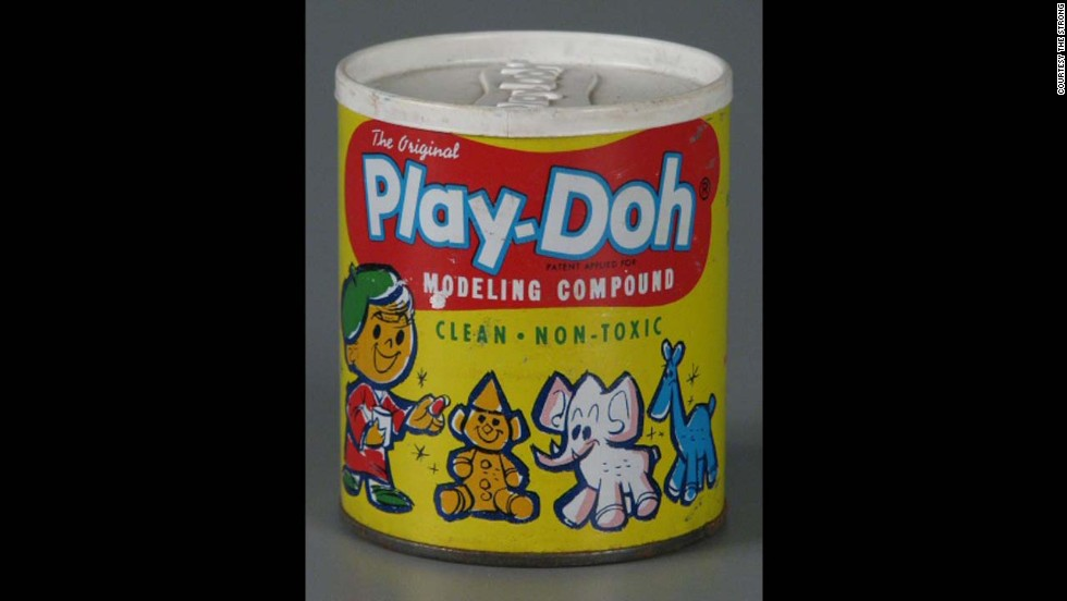 The Original Play-Doh Modeling Compound by Rainbow Crafts, Inc in 1962. Originally Play-Doh was meant to be wallpaper cleaner. By the mid-1950s, the product went from the color white, to red, blue and yellow and into nearly every playroom in America.