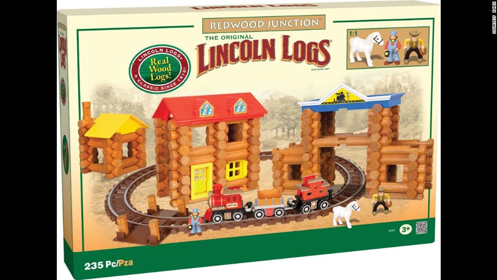 Lincoln Logs Redwood Junction by K'Nex in 2013. Each log is still made with real wood and smoothed with a splinter-free finish.
