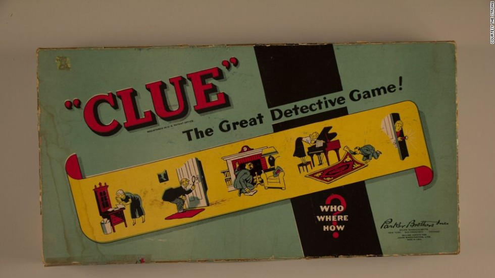 Clue: The Great Detective Game! by Parker Brothers in 1949. Purchased in 1948 by Parker Brothers, it was originally published in England and was called Cluedo.