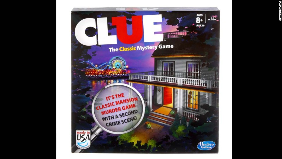Clue board game by Parker Brothers in the 2010s. Since Hasbro bought out Parker Brothers in the '90s, Clue has had dozens of variations as well as TV shows and movies. Still all the fun of the game is in the three main questions: Who killed Mr. Boddy? Where did they do it? and What did they do it with?