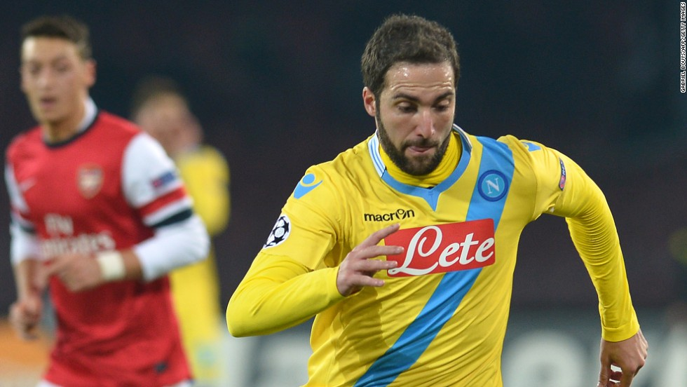 Argentinian forward Gonzalo Higuain scored in the 73rd minute for Napoli and Jose Callejon added a second in injury time, but Rafa Benitez's side miss out on the last 16 and will now play in the Europa League.