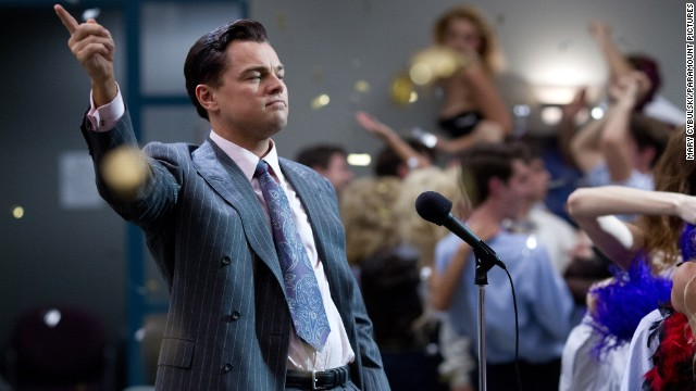 "Leonardo DiCaprio plays Jordan Belfort in Paramount's ""The Wolf of Wall Street."""