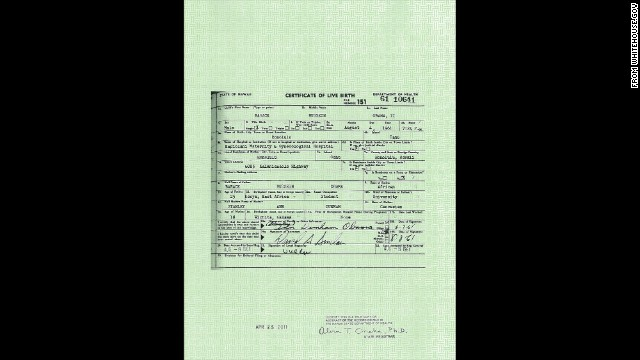 "President Obama's ""long form"" birth certificate"