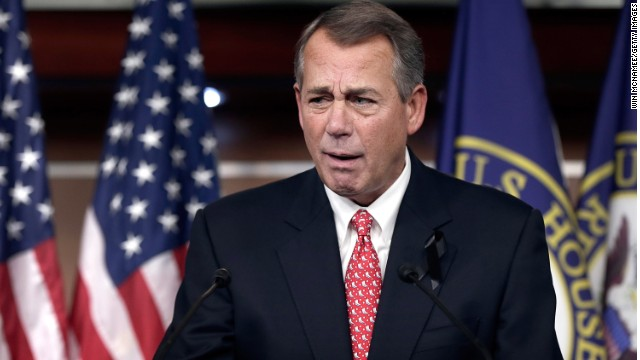 House John Boehner answers questions during a press conference December 12 in Washington, DC.