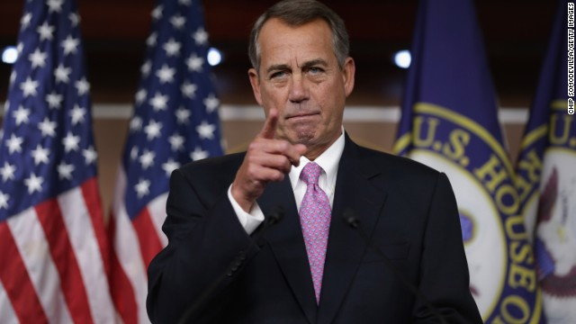 Boehner mocks members on immigration