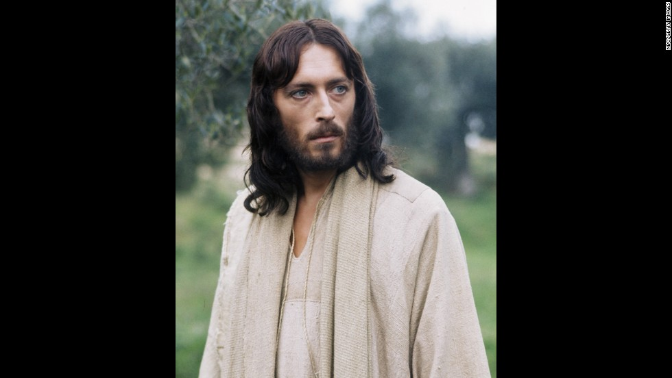 """British actor Robert Powell portrayed Jesus in a 1977 TV series, """"Jesus of Nazareth."""""""