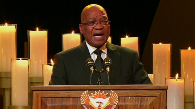 Zuma sings controversial song at funeral