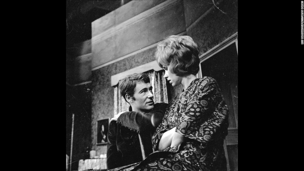"Wendy Craig and O'Toole rehearse for ""Ride a Cock Horse"" by playwright William Barrow on June 23, 1965."