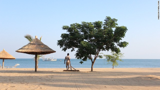 You'll find smooths sands on the beaches of Lake Malawi.