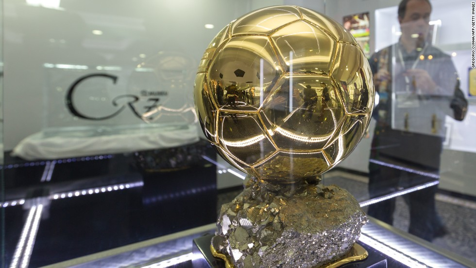 The Ballon d'Or awarded to Ronaldo in 2008, while he was at Manchester United, takes pride of place. Should the Portuguese receive the 2013 prize, there's plenty of room for another golden ball.