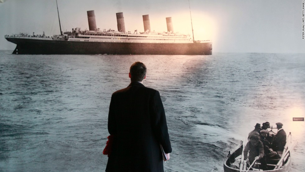 Few things achieve iconic status like that of RMS Titanic. Its sinking on April 15, 1912, has echoed down the decades. Here a man looks on in what is believed to be the last picture taken of the ship as it leaves Queenstown, now known as Cobh, in Ireland.
