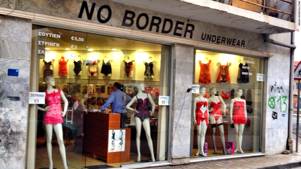 No Border Underwear, just near the Ledra Street checkpoint, celebrates its location with an unmistakable irony