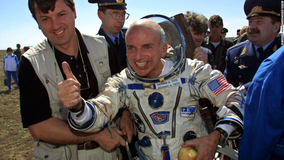 In 2001, U.S. rich guy Dennis Tito became the world's first space tourist. His six-day trip rotating the Earth reportedly cost $20 million. While the expense still prevents the majority of us from taking a vacation to space, at least it's a possibility.