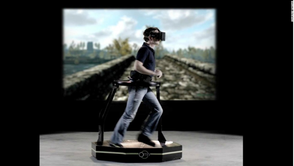 "<strong><u>Omni<strong></strong></u> Pledged: $1,109,351 -- </strong>With the Omni, gamers can traverse virtual terrains by running. It is the first virtual reality interface for moving freely and naturally within the game you're playing. By jumping, running and dodging danger in your living room, players will achieve an ""unprecedented sense of immersion""."
