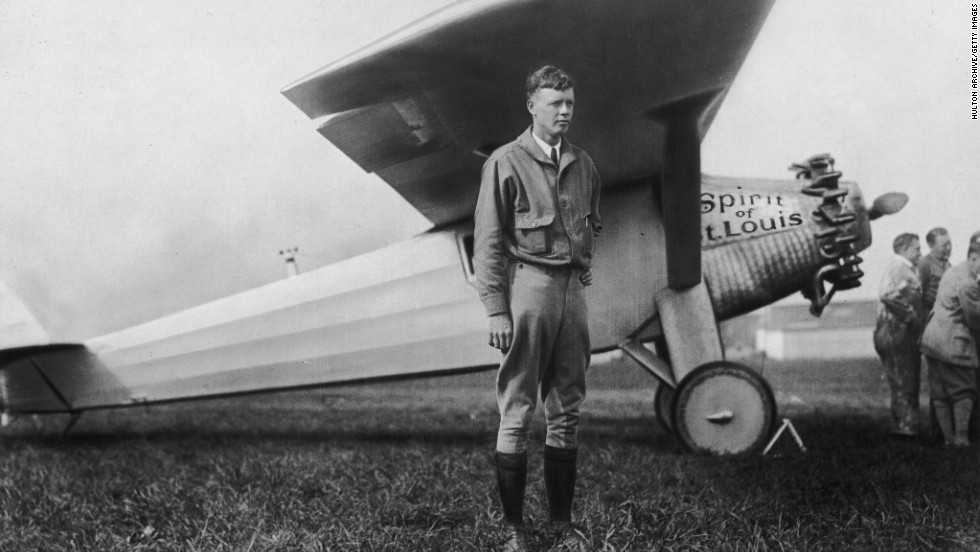 American aviator Charles Lindbergh completed the first solo trans-Atlantic nonstop flight on May 20-21, after flying for 33.5 hours. A typical New York to Paris flight today takes around eight hours.