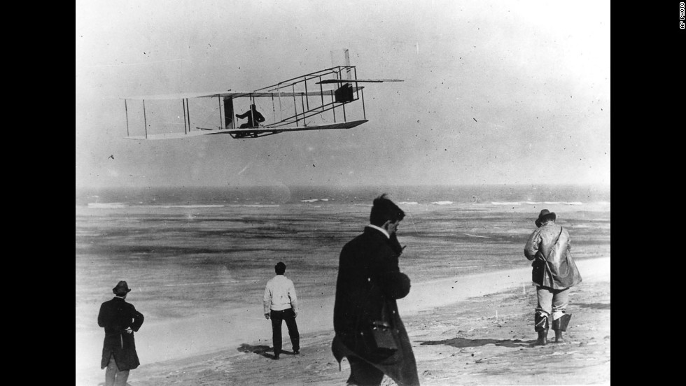 """The desire to fly,"" Orville Wright said, ""is an idea handed down to us by our ancestors who, in their grueling travels across trackless lands in prehistoric times, looked enviously on the birds soaring freely through space, at full speed, above all obstacles, on the infinite highway of the air."""