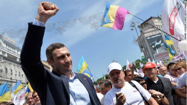 Vitaly Klitschko has received mass adulation in his native Ukraine since announcing his political ambitions