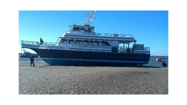 Ferry runs aground in North Carolina