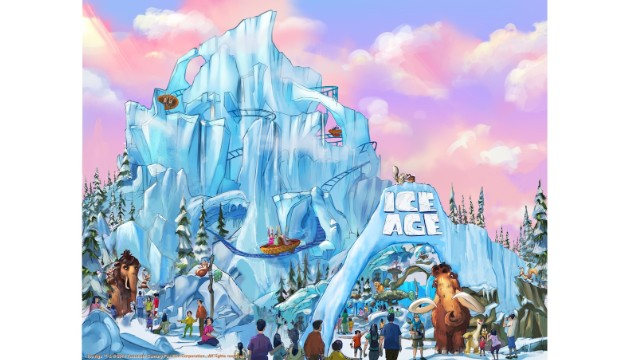 "Twentieth Century Fox World will feature rides and attractions based on Fox films, including ""Ice Age."""