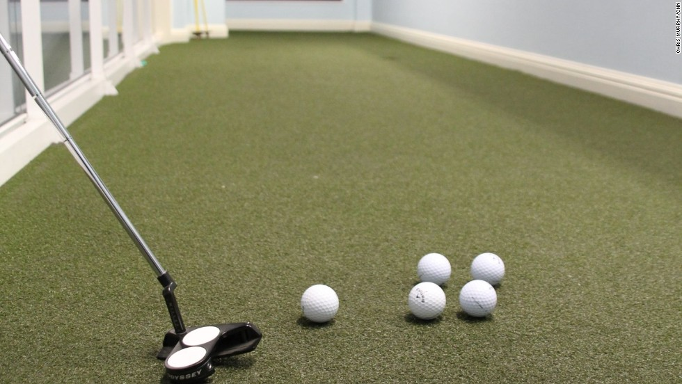 "Another new feature is a putting green for golfers to hone that vital part of the game that gave rise to the phrase ""driving for show, putting for dough."""