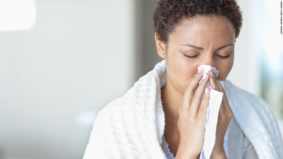 "<strong>Myth: Allergies go away in the winter.</strong><br /><br />Allergies might be the real source behind your stuffy nose and scratchy throat this season. According to the Asthma and Allergy Foundation of America, one in five people suffers from indoor/outdoor allergies, and the indoor variety can actually be worse in the winter. Pets don't spend as much time outdoors, shut windows seal in poor air quality, and many molds even thrive in the winter, Vreeman says. <br /><br />If your symptoms last longer than 10 days or ease up after taking an antihistamine, it might be time to visit an allergist. <br /><br /><a href=""http://www.health.com/health/gallery/0,,20307349,00.html"" target=""_blank"">Health.com: 15 hypoallergenic dogs and cats</a> <br />"