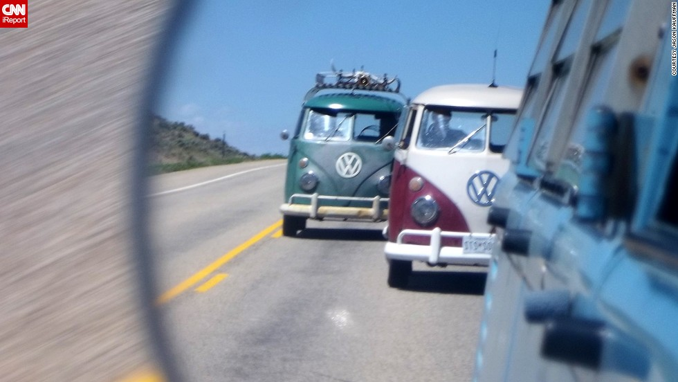 "The end of production this year won't mean the end of Kombi journeys. Online communities provide a space to share stories and trade ""ideas that help keep our vans going,"" says enthusiast Vince Moellering."