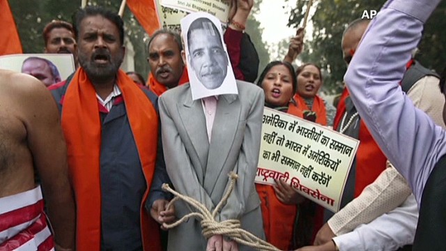 Uproar in India to diplomat's arrest