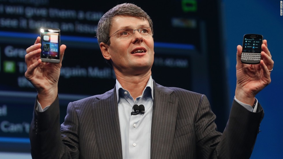 LOSER: A year to forget for former Blackberry CEO Thorsten Heins, who stepped down after only 22 months at the helm of the troubled Canadian phone maker.