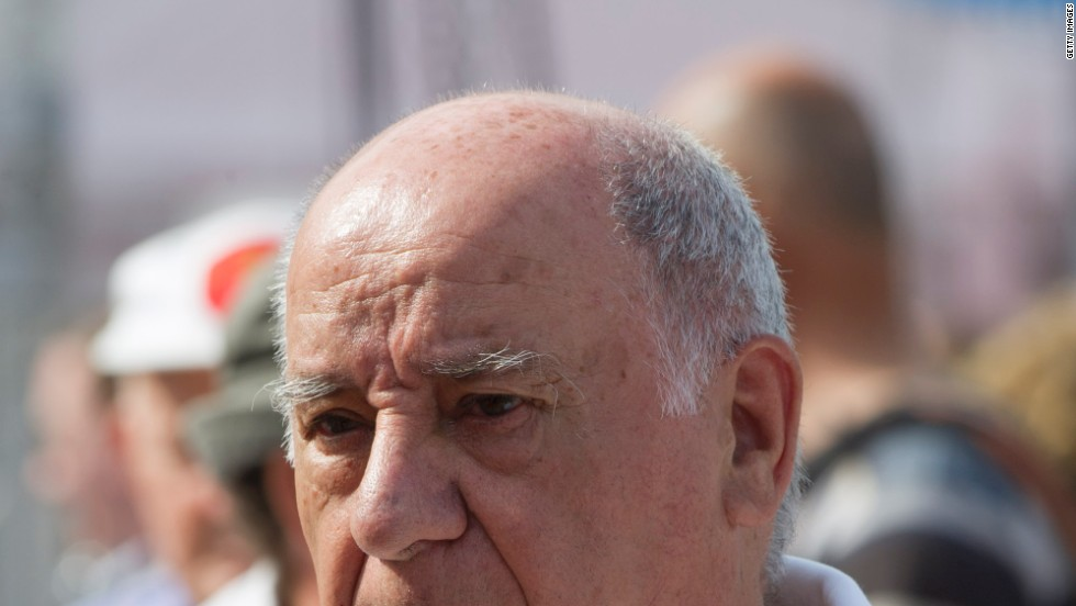 WINNER: It's been a good year for Zara boss Amancio Ortega. Worth an estimated $57 billion, according to Forbes, Ortega shot to third in the world's rich list overtaking U.S. investor Warren Buffet and LVMH boss Bernard Arnault.