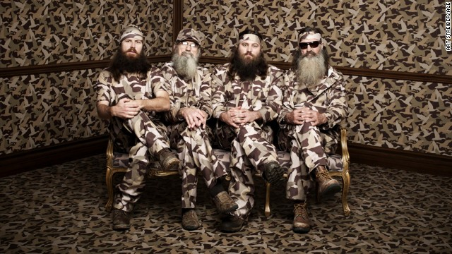 Phil, Jase, Willie & Si Robertson of the A&E series DUCK DYNASTY Photo Art Streiber/A&E ©2013 A&E Networks