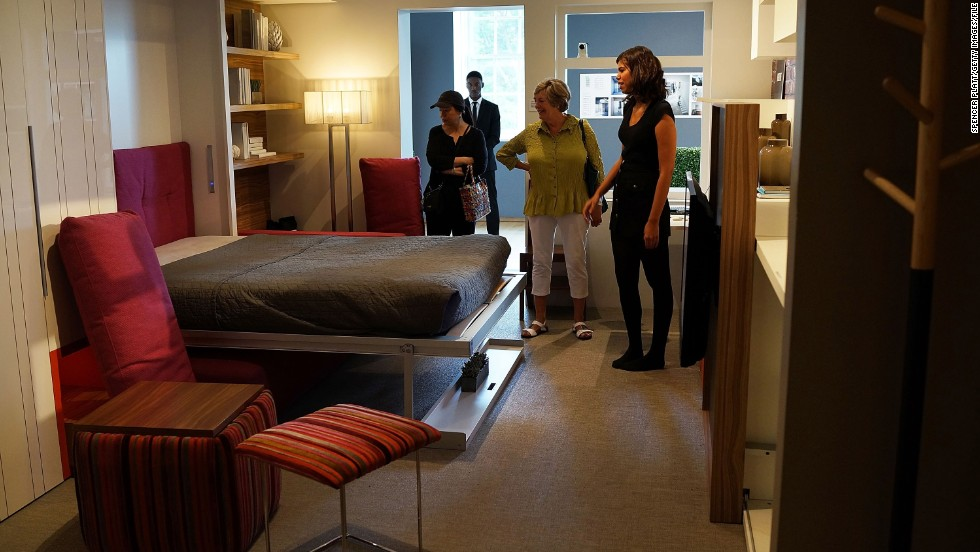 "An example of a 325-square-foot apartment at the Museum of the City of New York. The exhibit, called ""Making Room,"" was inspired by a contest to design micro-apartments to help ease the affordable housing shortage."