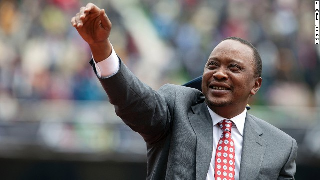 President Uhuru Kenyatta at Moi International Sports Complex Kasarani, Nairobi, Kenya, December 12, 2013.