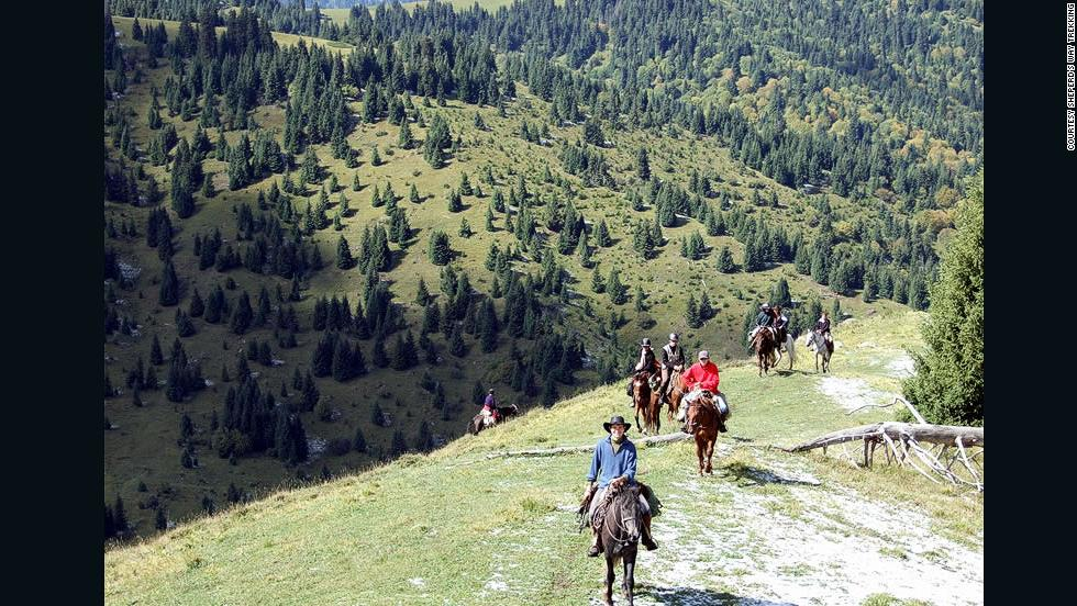 One of the few things to know about Kyrgyzstan -- great horse treks.