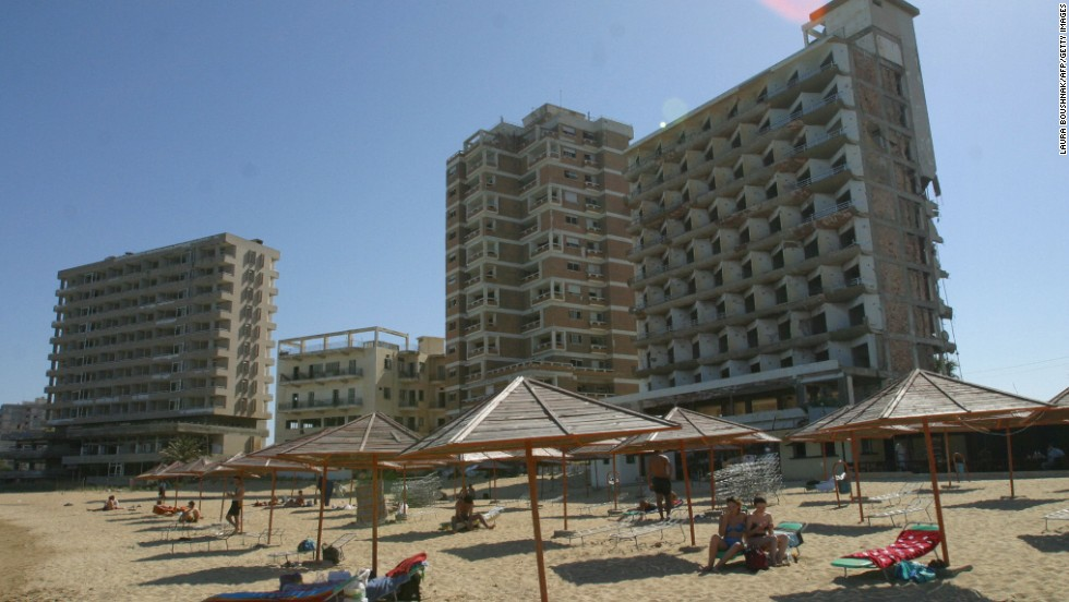 Varosha was once frequented by the likes of Elizabeth Taylor and Brigitte Bardot, but since the Turkish invasion of Cyprus in 1974 the former resort has become a fenced-off no man's land.