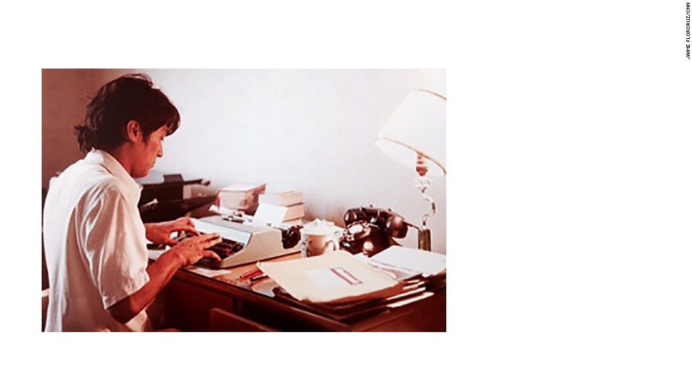 FlorCruz files a report as rookie journalist for Newsweek Magazine's Beijing bureau in 1981.