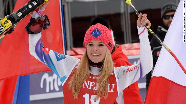 Tina Weirather outclassed the field to win a giant slalom in Val d'Isere, France on Sunday.