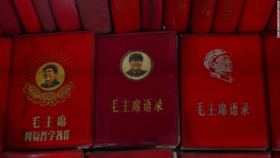 This photo taken last year shows Little Red Books containing the thoughts of former Chinese leader Mao Zedong at Fan Jianchuan's Cultural Revolution museum near Chengdu, in Sichuan province.