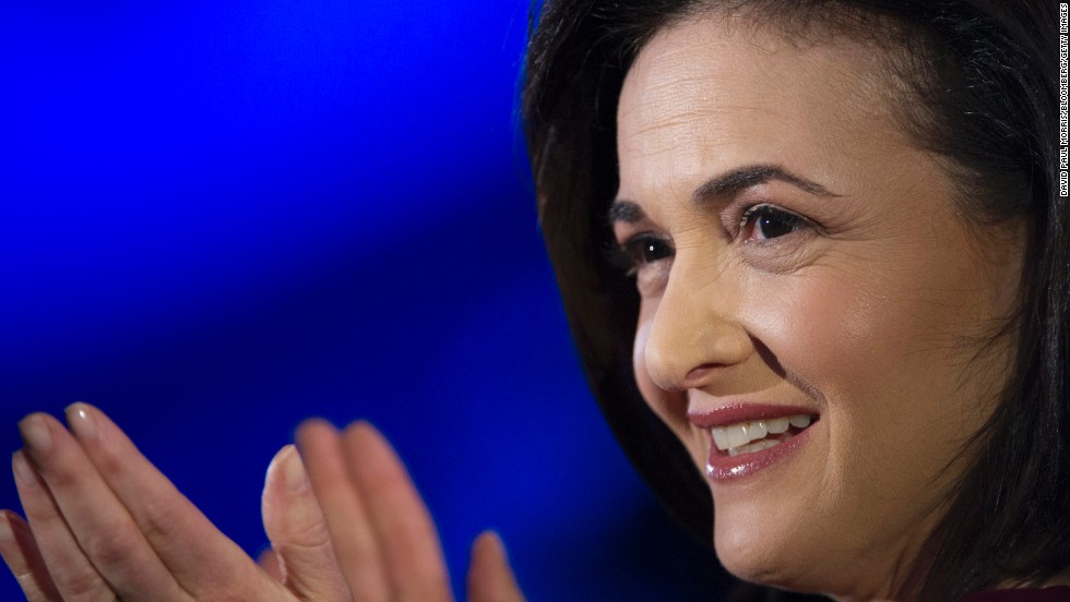 Sheryl Sandberg, chief operating officer of Facebook, urges women to lean in to their ambitions.