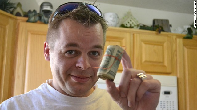 Finding $45,000 in his new home changed Josh Ferrin's life, but not the way he first imagined.
