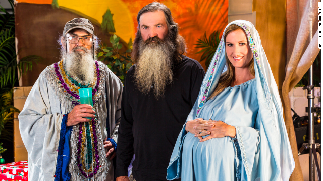 Si, Phil and Korie Robertson in the 'Duck Dynasty' Christmas special 2013