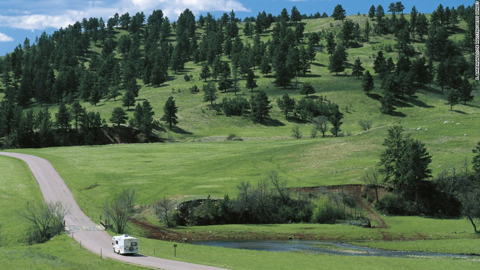 "One of the largest publicly owned bison herds in the world lives at <a href=""http://gfp.sd.gov/state-parks/directory/custer/"" target=""_blank"">Custer State Park</a> in the Black Hills. There you can also see elk, mountain goats, antelope, wild turkeys and burros. Hike, fish, camp or stay overnight at one of the 71,000-acre park's five lodges."