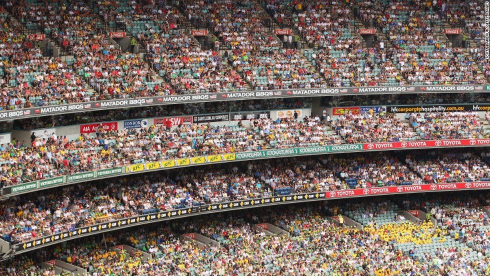 The previous record was also set at the MCG -- 90,800 watched Australia host the West Indies in 1961. Aussie supporters have had plenty to cheer about during the Ashes, as the host has already regained the urn.