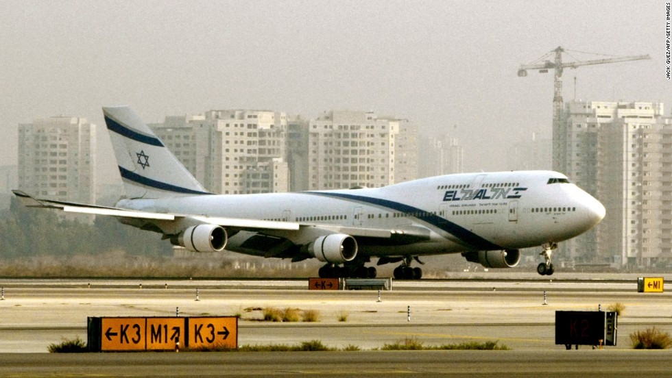 A Boeing 747, similar to the one pictured, set the Guinness World Record for most passengers on an aircraft when an El Al Airlines plane carried 1,088 Ethiopian Jews from Addis Ababa, Ethiopia, to Israel on May 24, 1991. Two babies were born on the flight.