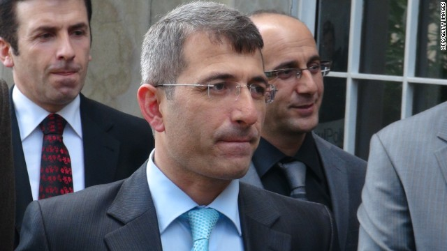 Turkish prosecutor Muammer Akkas as he walks out from a courthouse in Istanbul.