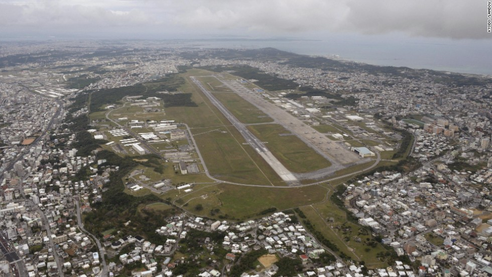 An Aerial View Of The U S Marine Corps 39 Futenma Air Station In Okinawa